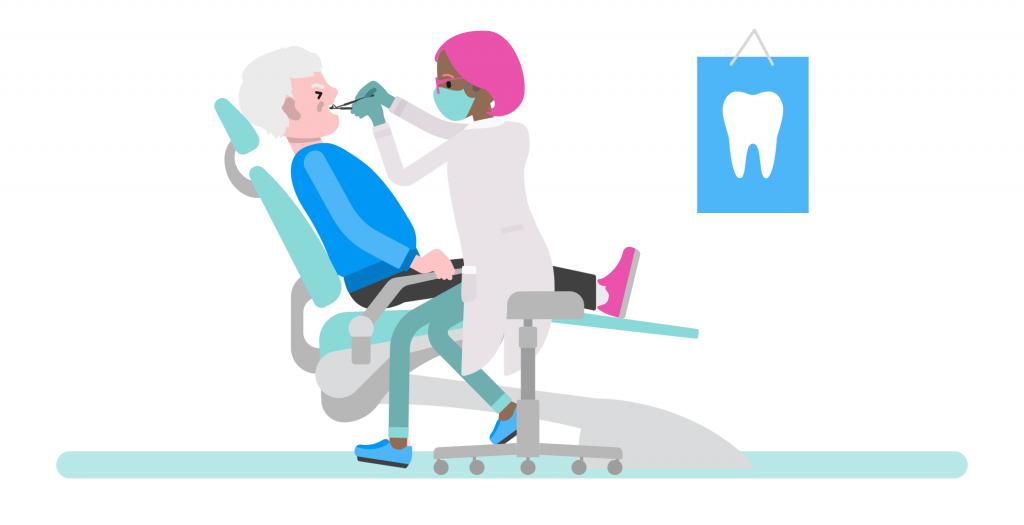 A man in dental care